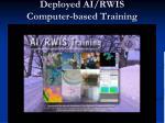 deployed ai rwis computer based training