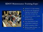 kdot maintenance training expo