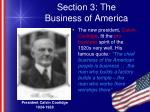 section 3 the business of america