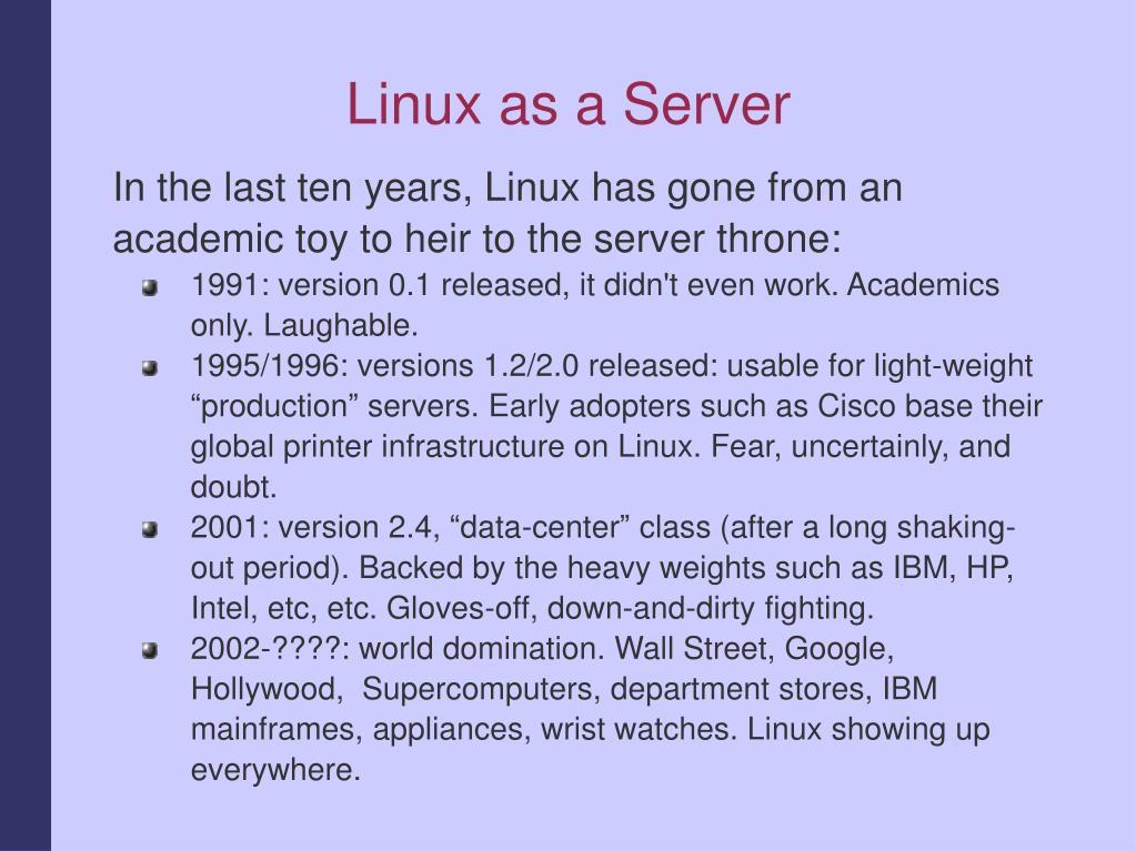 Linux as a Server