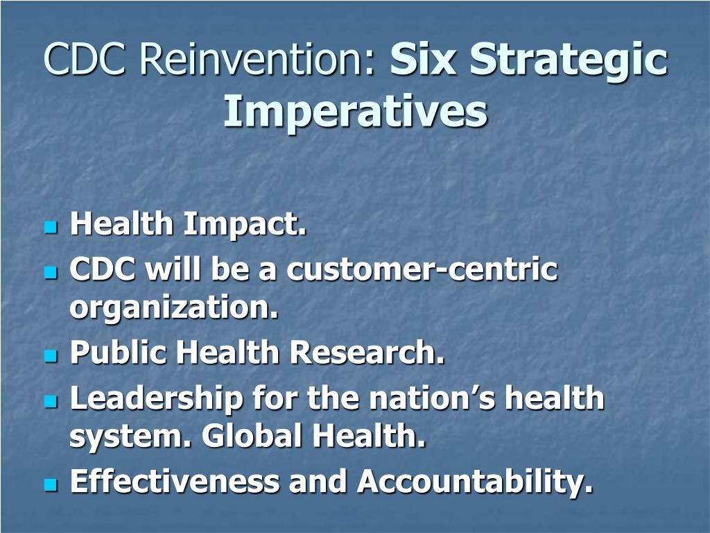 CDC Reinvention: