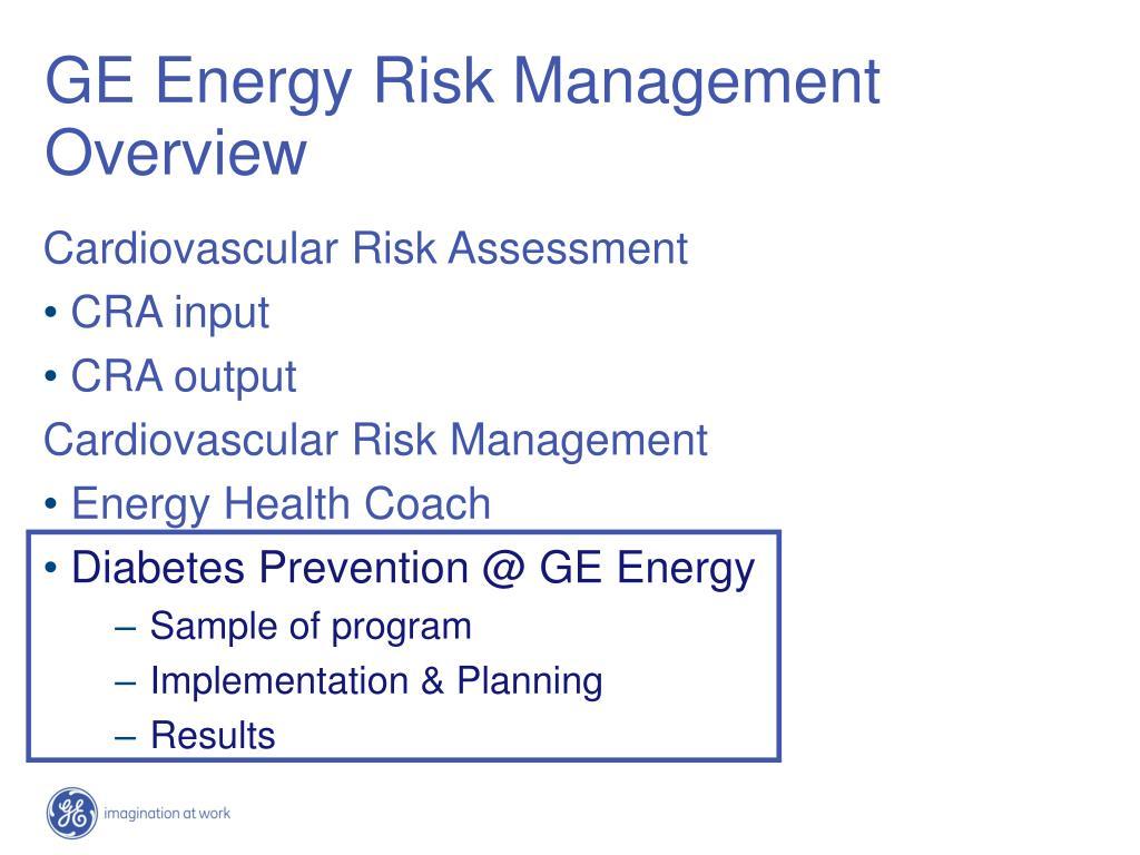 GE Energy Risk Management