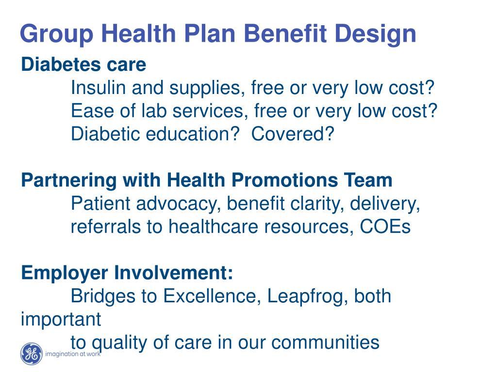 Group Health Plan Benefit Design