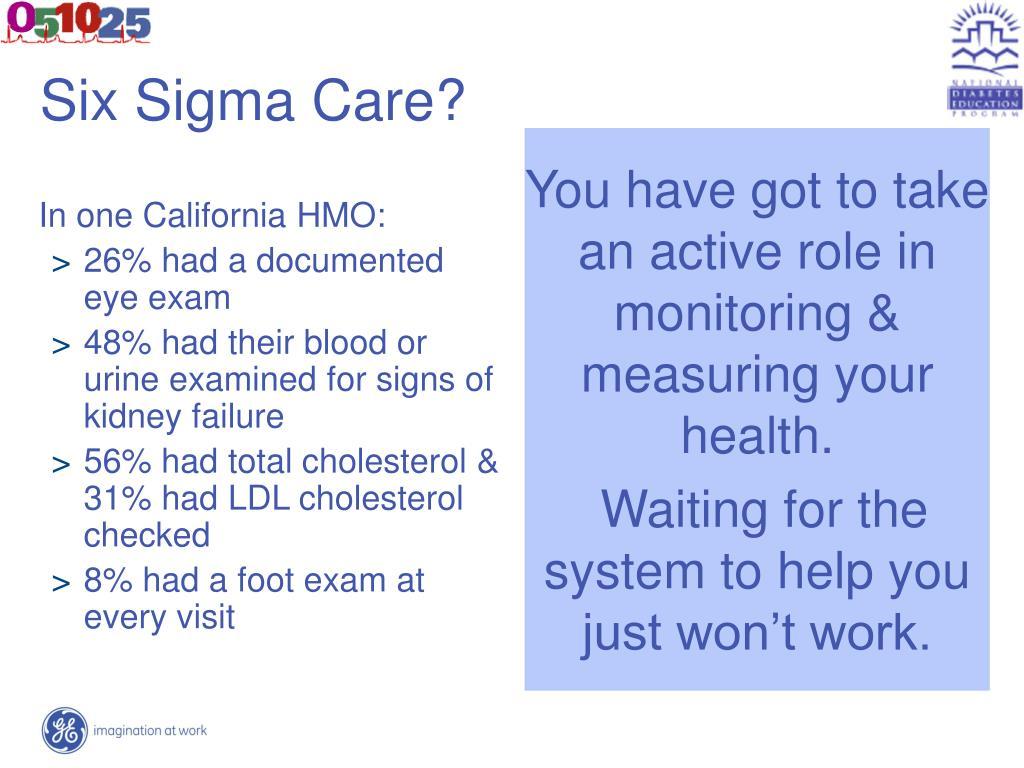 Six Sigma Care?