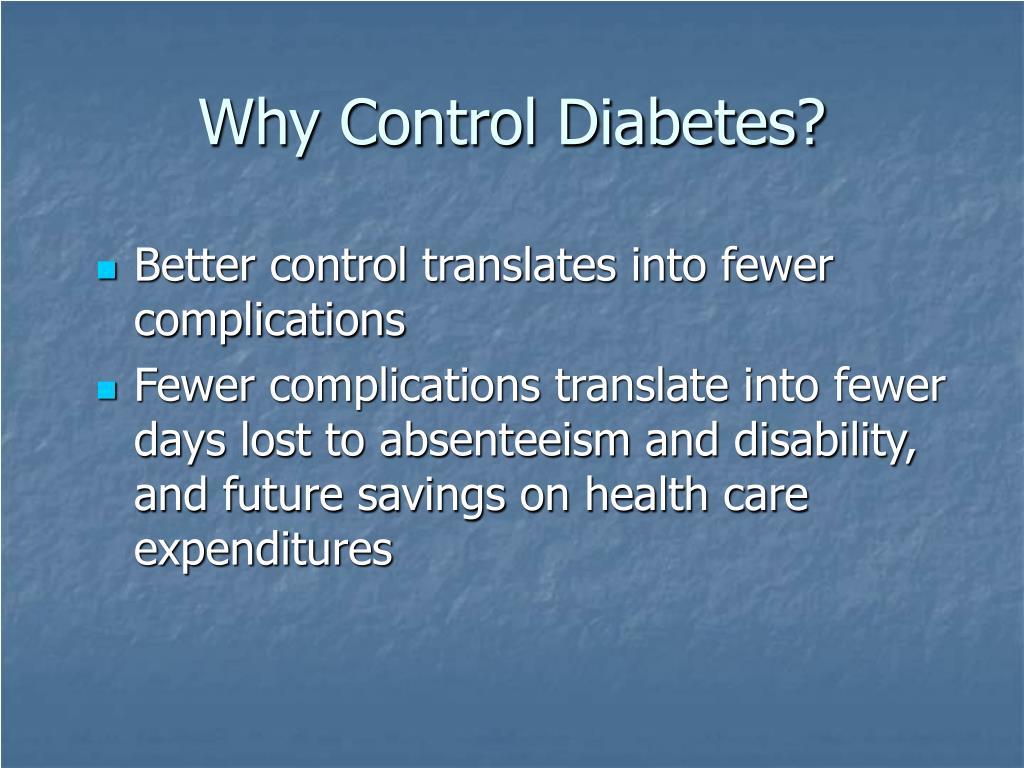 Why Control Diabetes?