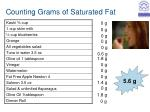 counting grams of saturated fat12