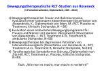 bewegungstherapeutische rct studien aus roseneck 3 promotionsarbeiten diplomarbeit 2005 2010