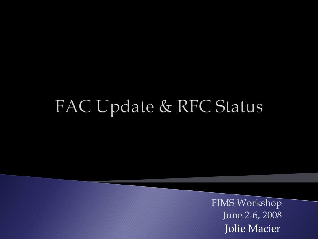fac update rfc status l.