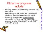 effective programs include