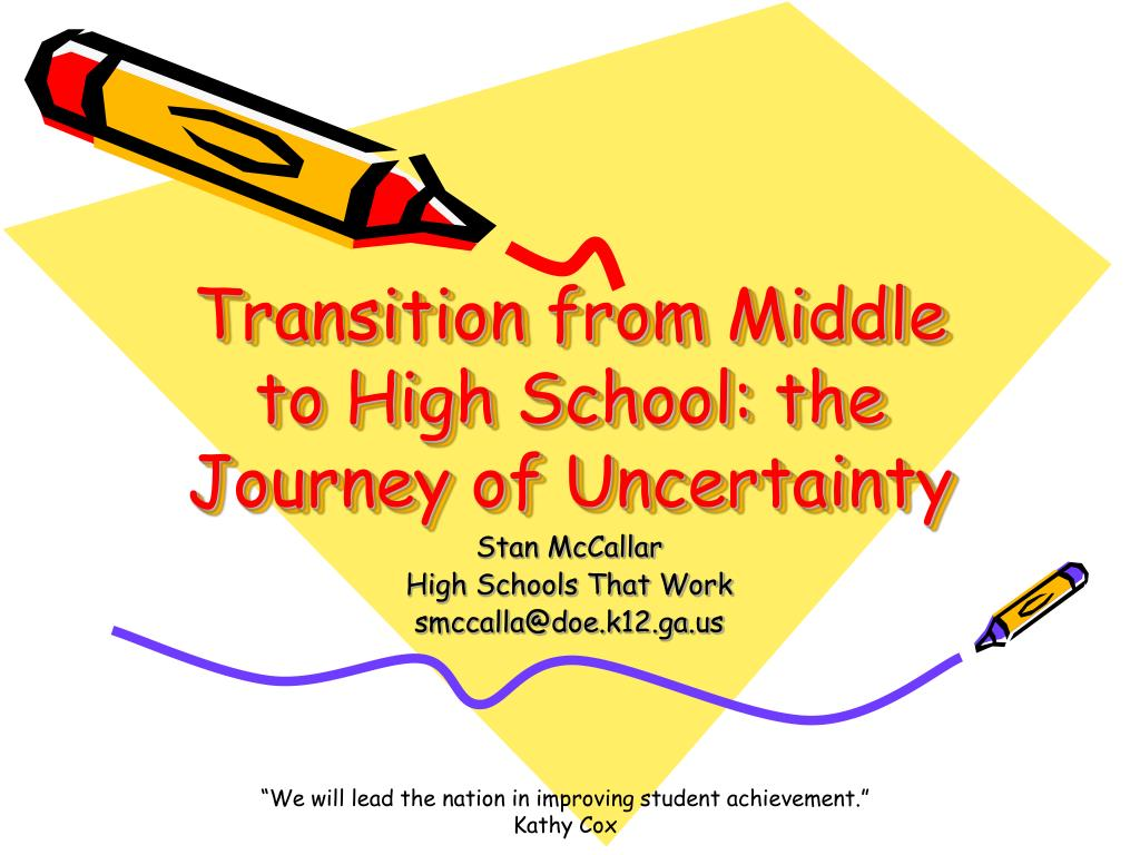 transition from middle to high school the journey of uncertainty l.