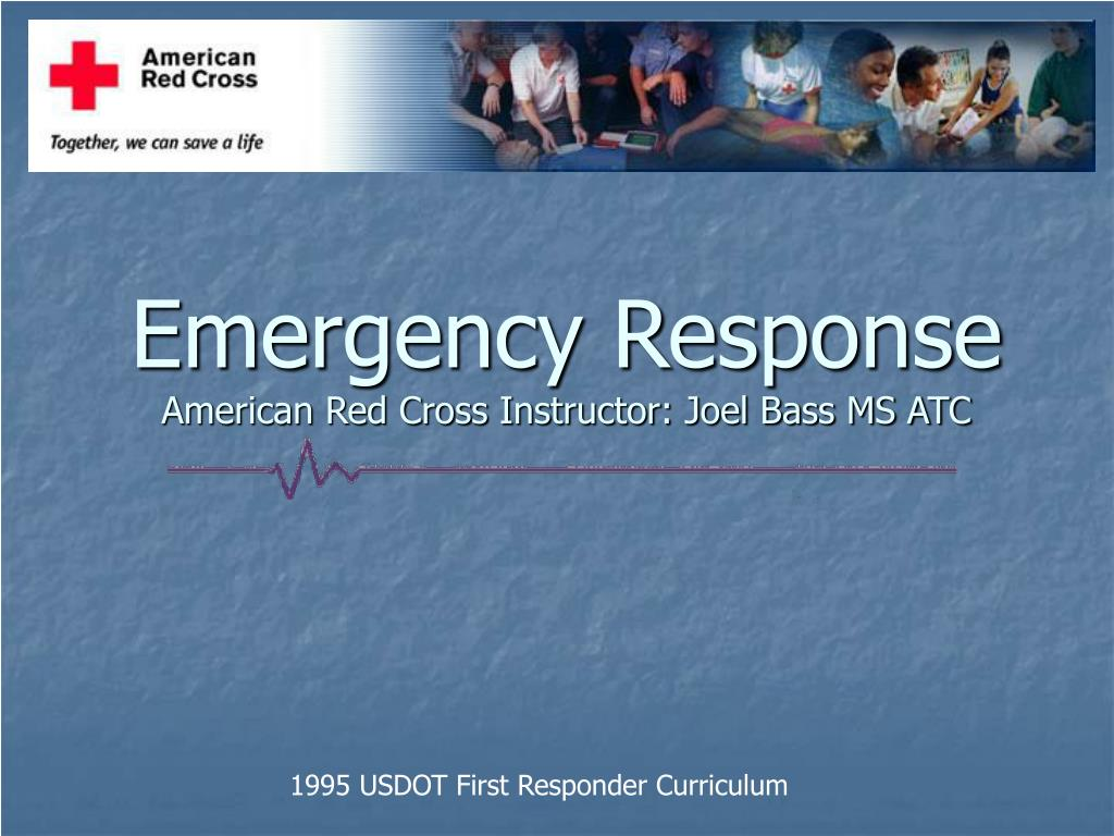 emergency response american red cross instructor joel bass ms atc l.
