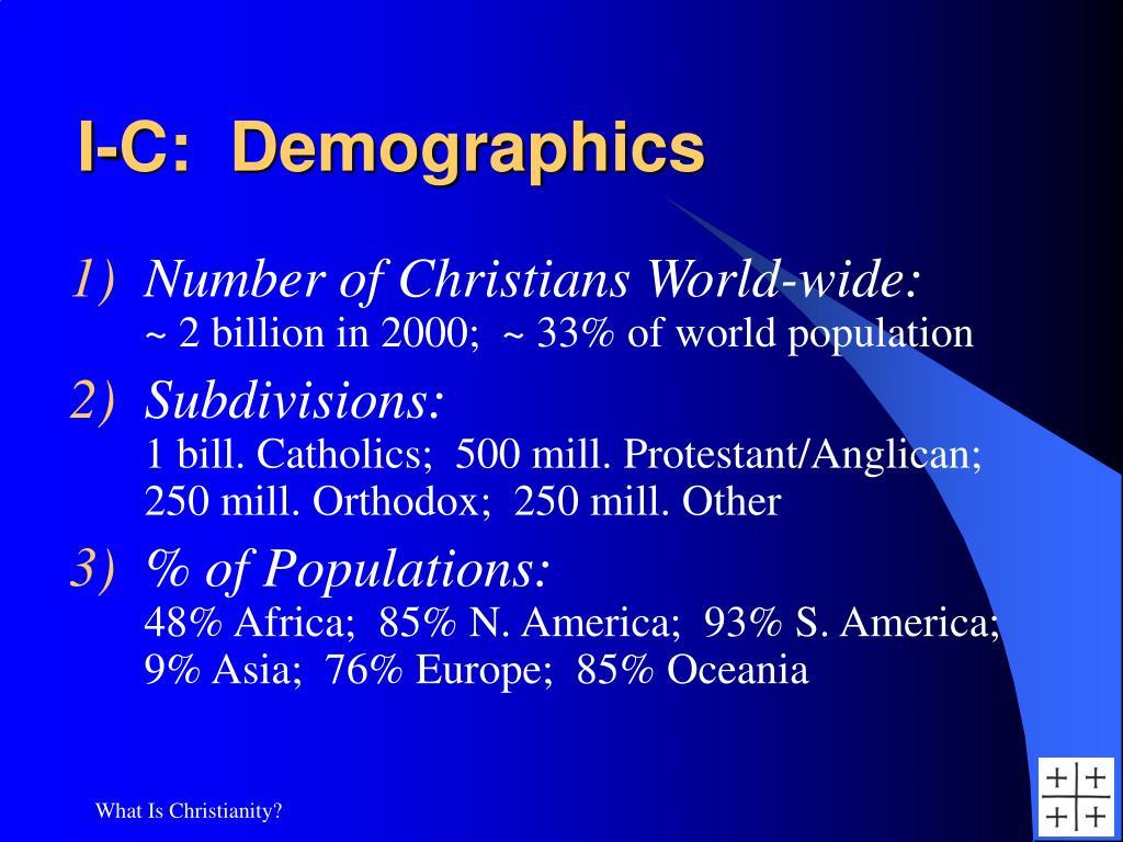 I-C:  Demographics