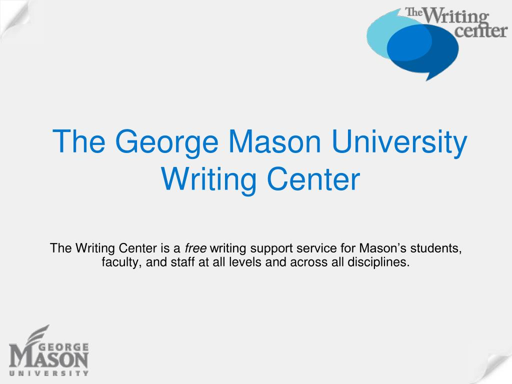 the george mason university writing center l.