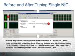 before and after tuning single nic