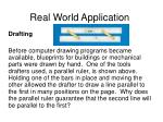 real world application122