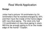 real world application158