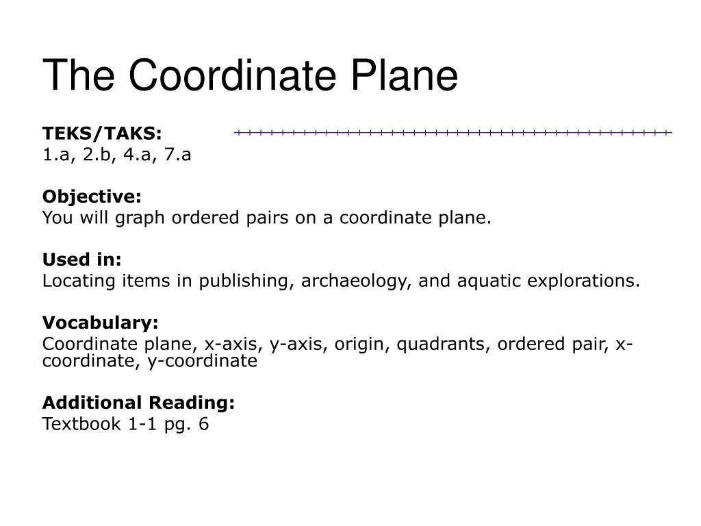 the coordinate plane l.