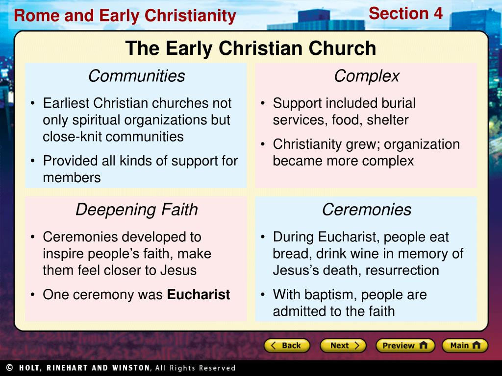The Early Christian Church