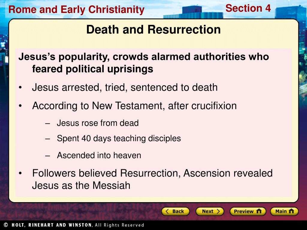 Jesus's popularity, crowds alarmed authorities who feared political uprisings