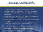 agent of the practitioner s role schedule ii controlled substances18