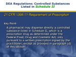 dea regulations controlled substances listed in schedule ii