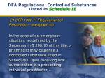 dea regulations controlled substances listed in schedule ii3
