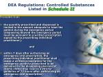 dea regulations controlled substances listed in schedule ii4
