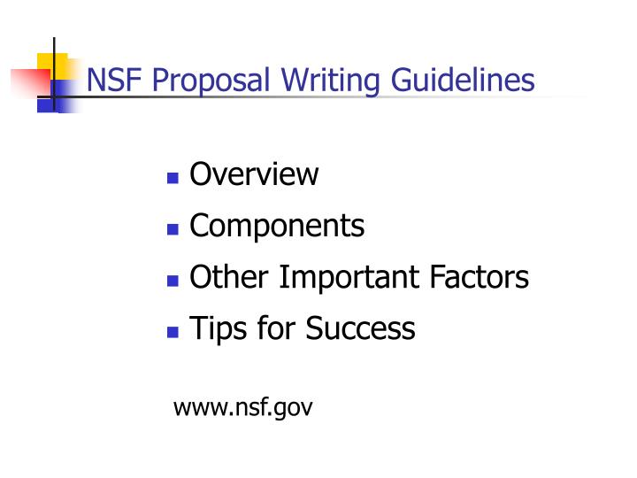 nsf proposal writing guidelines n.