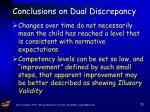 conclusions on dual discrepancy