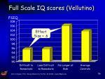 full scale iq scores vellutino