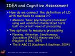 idea and cognitive assessment82