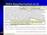 idea reauthorization ld80