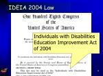 ideia 2004 law