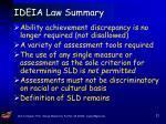 ideia law summary