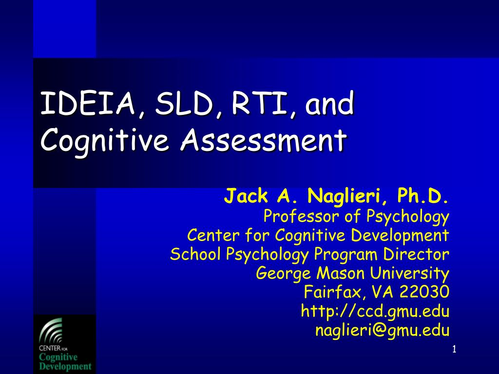 ideia sld rti and cognitive assessment l.