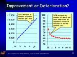 improvement or deterioration