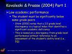 kovaleski prasse 2004 part 1