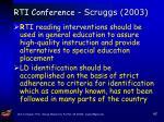 rti conference scruggs 2003