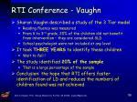 rti conference vaughn