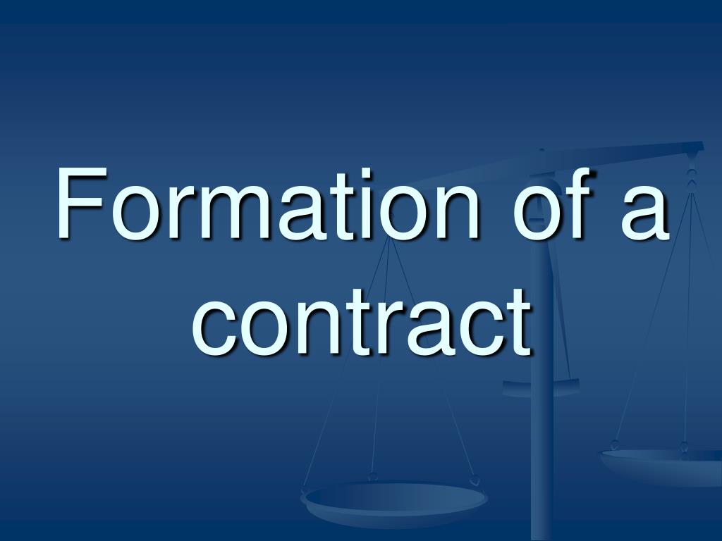 formation of a contract l.