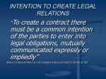 intention to create legal relations