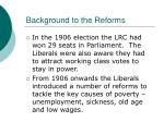 background to the reforms14