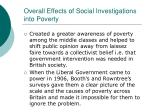 overall effects of social investigations into poverty