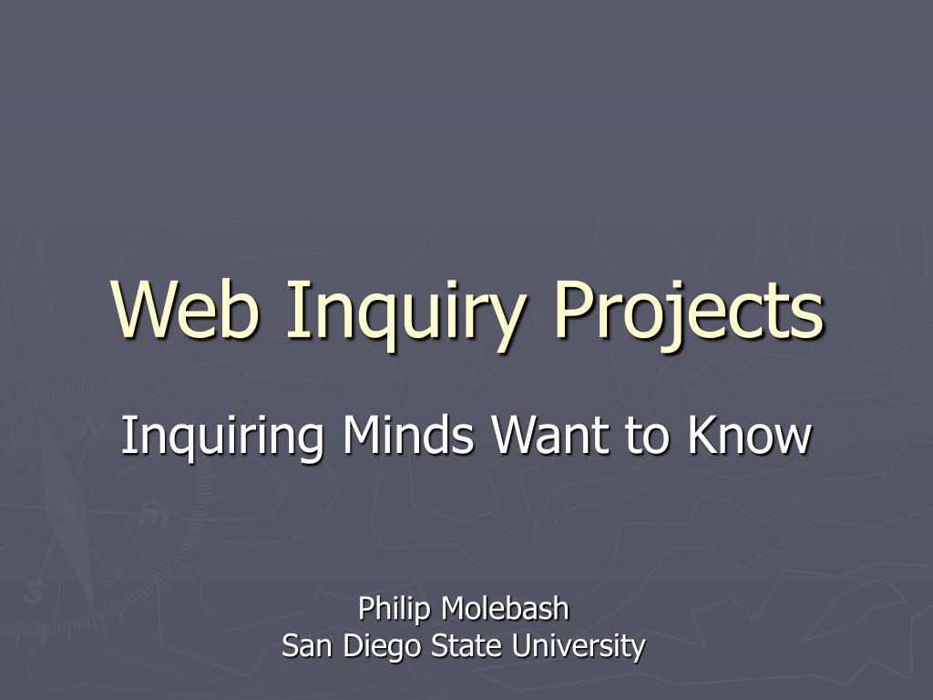 web inquiry projects l.