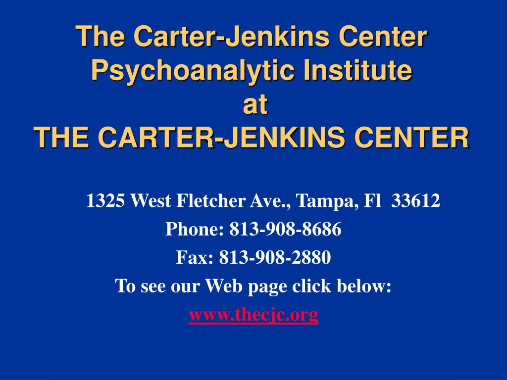 the carter jenkins center psychoanalytic institute at the carter jenkins center l.