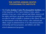 the carter jenkins center psychoanalytic institute