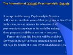 the international virtual psychoanalytic society16