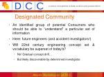 designated community