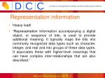 representation information