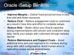 oracle isetup benefits
